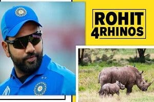 "Rohit Sharma's new innings, ""Rohit4Rhinos campaign"" for conservation Rhinos"