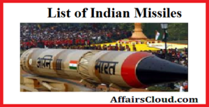 List of Indian Missiles