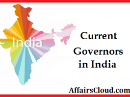 List of current Indian governors