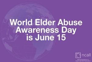 World Elder Abuse Awareness Day, 15 June 2015