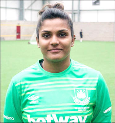 Aditi Chauhan 1st Woman Indian Football player to play in UK