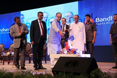 Arun Jaitley inaugurated the Bandhan Bank in Kolkata