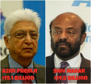 Azim Premji and shiv nadar