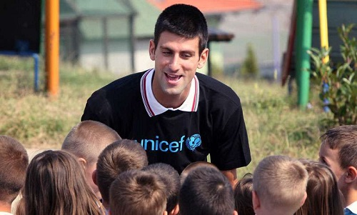 Djokovic new UNICEF goodwill ambassador