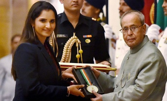 Rajiv Gandhi Khel Ratna - Sania Mirza
