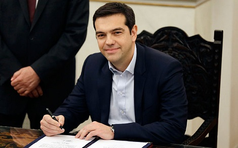 Alexis Tsipras sworn in as new Prime Minister of Greece