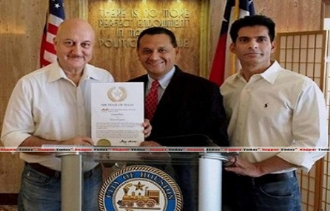 Anupam Kher conferred with Honoured Guest of Texas Award
