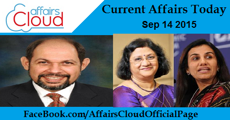 Current Affairs Sep 14 2015