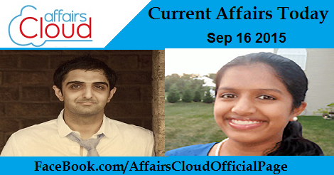 Current Affairs Sep 16 2015
