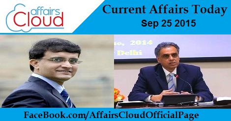 Current Affairs Sep 25 2015