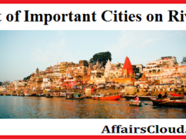 Important Cities on River