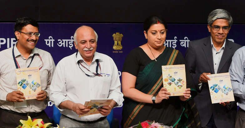 National Institutional Ranking Framework Document and Web portal launched by HRD Ministry