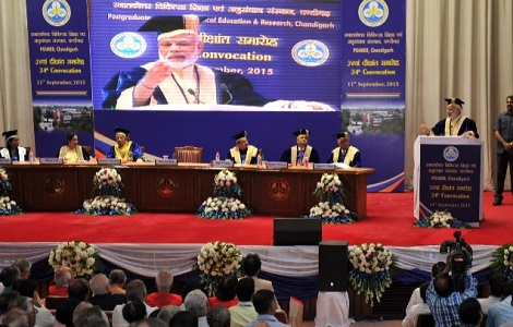 PM in Chandigarh for Inauguration and attending PGIMER Convocation Ceremony