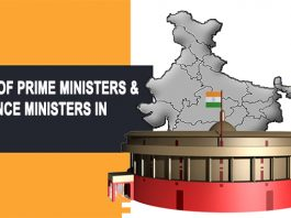 list of prime minister & finance minister in India