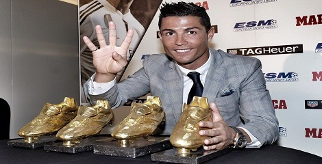 Cristiano Ronaldo honoured with fourth Golden Boot