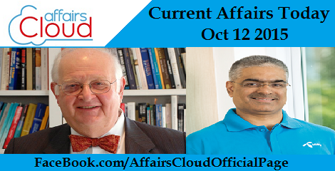 Current Affairs Oct 12 2015