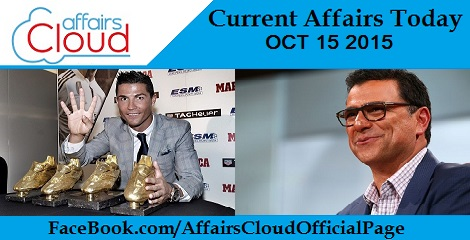Current Affairs Today Oct 15