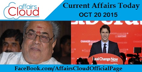 Current Affairs Today October 20 2015