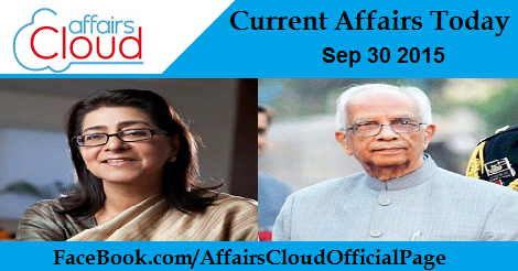 Current Affairs sep 30 2015