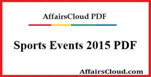 Sports Events 2015 PDF