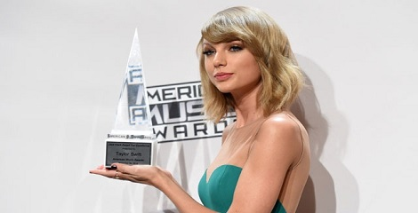 2015 American Music Awards 3 win for Taylor Swift