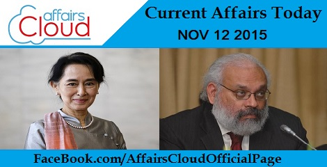 Current Affairs Today 12 November 2015
