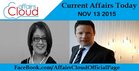 Current Affairs Today 13 November 2015
