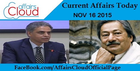 Current Affairs Today 16 November 2015