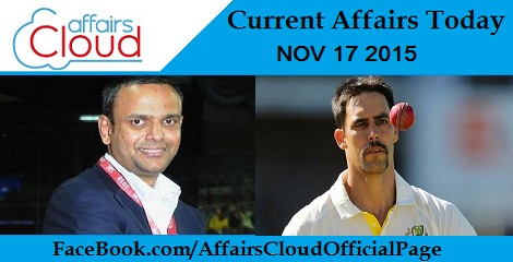 Current Affairs Today 17 November 2015
