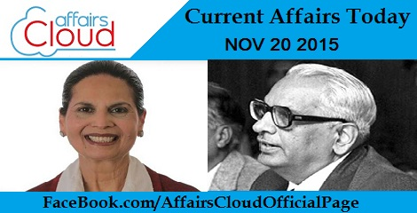 Current Affairs Today 20 November 2015