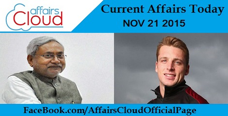 Current Affairs Today 21 November 2015