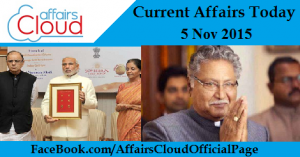 Current Affairs Today Nov 5