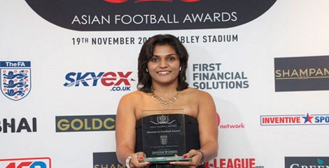 Delhi's Aditi - 1st Indo woman bestowed by Asian Football Awards