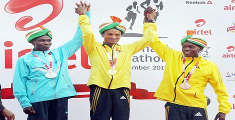 Ethiopian, Kenyan runners win Delhi Half Marathon
