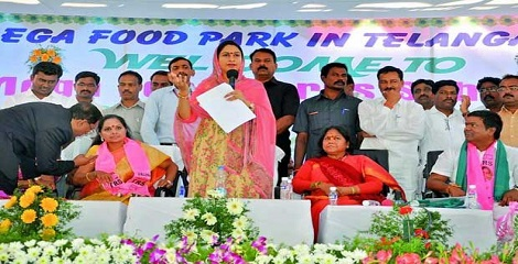 Foundation stone laid of First Mega Food Park in Telangana