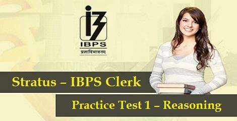 IBPS Clerk Prelims - Reasoning Practise Test 1
