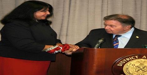 Indian-American Judge Ushir Pandit-Durant receives public service award