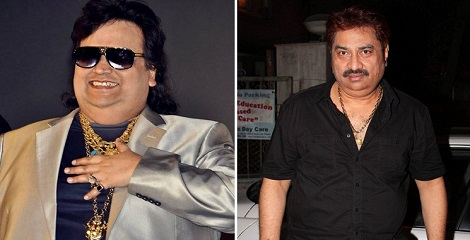 Bappi Lahiri and Kumar Sanu with Lifetime Achievement Awards
