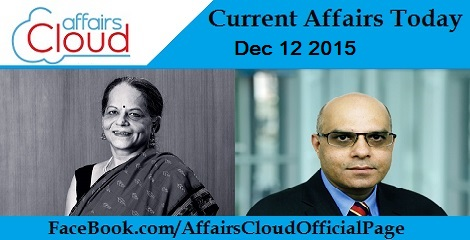 Current Affairs Today 12 December 2015