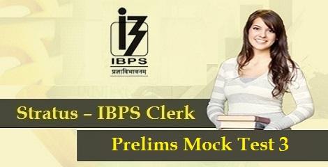 IBPS-Clerk-Prelims-Mock-Test 3