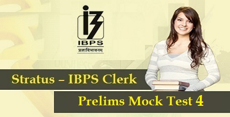 IBPS-Clerk-Prelims-Mock-Test 4