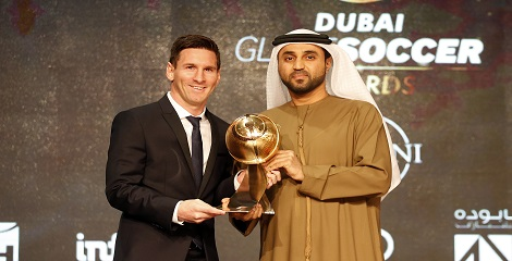 Messi, Barcelona win big at Globe Soccer Awards