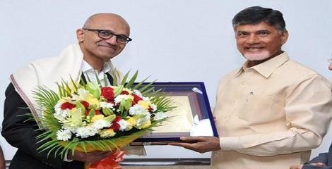 Microsoft's Nadella inked pacts with Andhra Pradesh