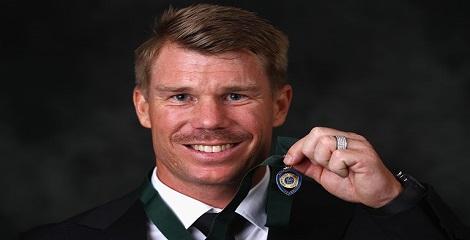 Allan Border medal for 2016 presented to David Warner