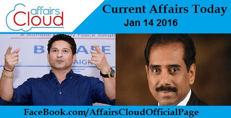 Current Affairs Today 14 January 2016