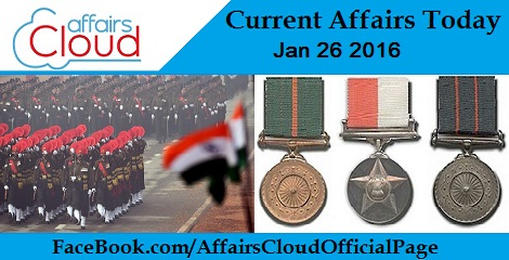 Current Affairs Today 26 January 2016