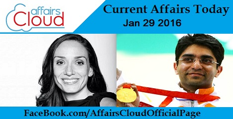 Current Affairs Today 29 January 2016