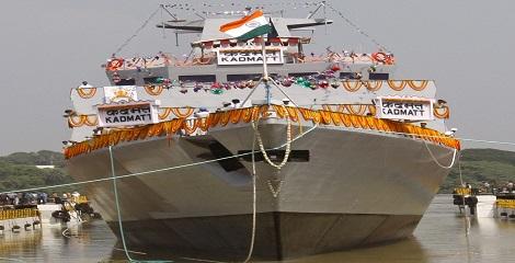 INS Kadmatt, anti-submarine warfare corvette, commissioned