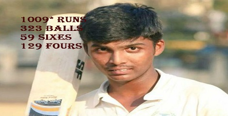Pranav Dhanawade hits world record by scoring 1009 runs at school level tournament