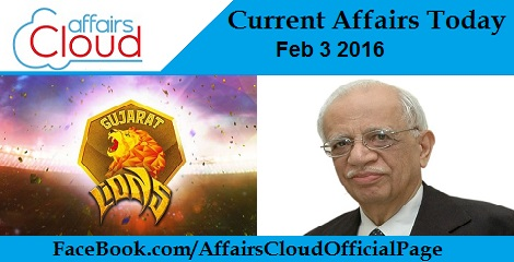Current Affairs Today 3 February 2016